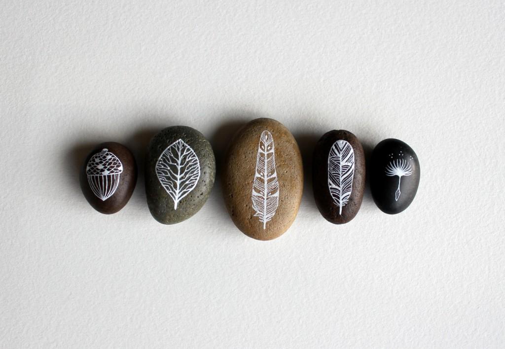malowane kamienie - Marisa Redondo