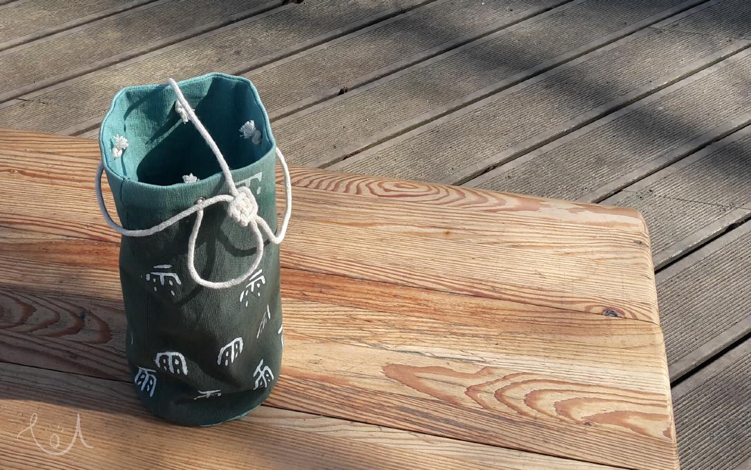 kubełek z materiału – moja interpretacja fabric bucket