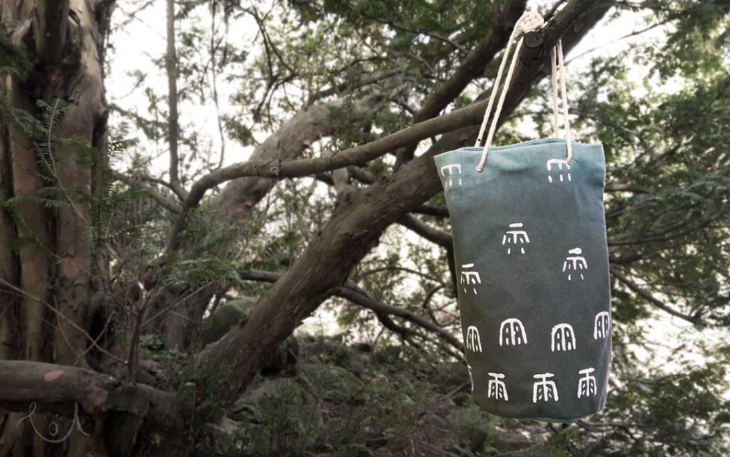 kubełek z materiału - moja interpretacja fabric bucket