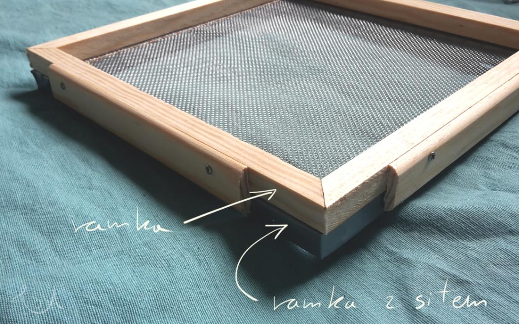 Sito i rama do tworzenia papieru czerpanego