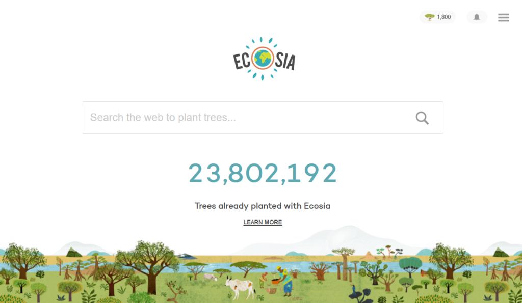 ecosia zamiast google