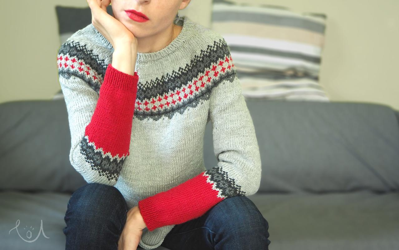 druty – mój pierwszy sweter