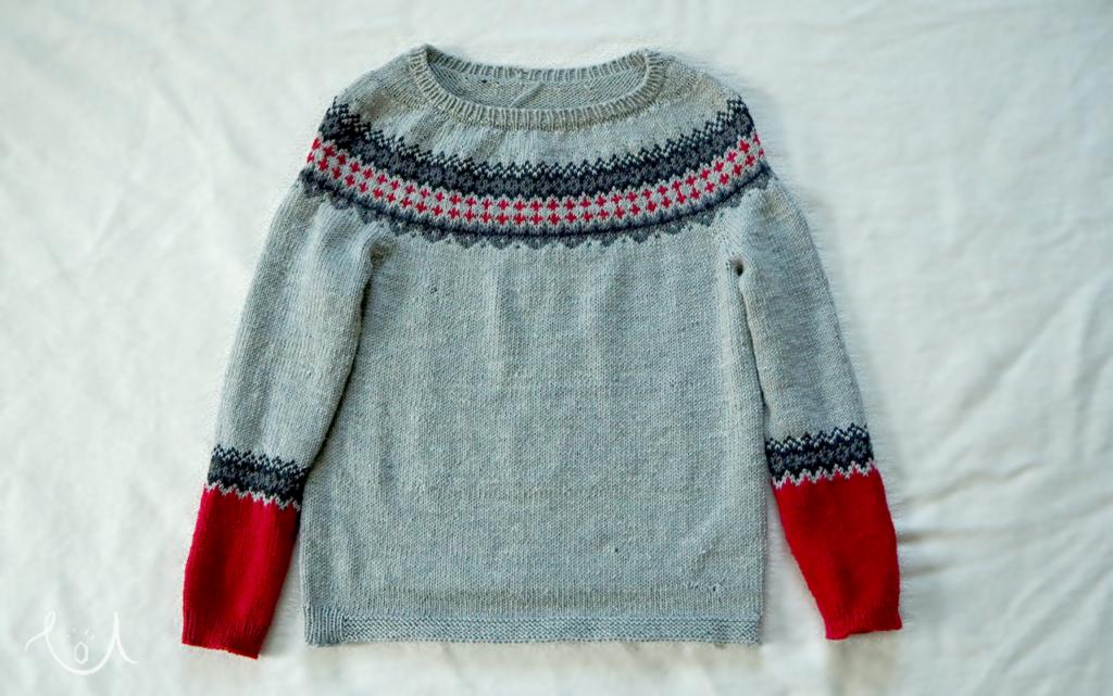 druty - mój pierwszy sweter